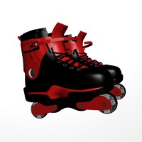 3d model agressive skates