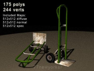 handcart 3d model