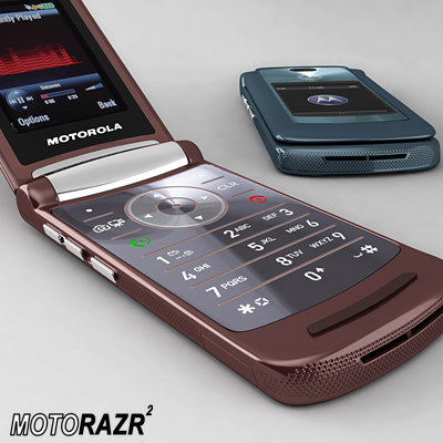 new razr2 motorola cell phones 3d model