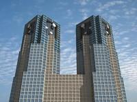 shinjuku tower skyscrapers buildings 3d 3ds