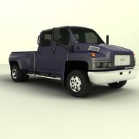 3d gmc c4500 crew cab model