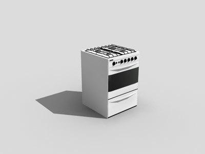 stove 3d max
