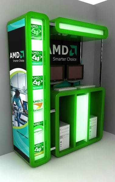 mall exhibition 3d max