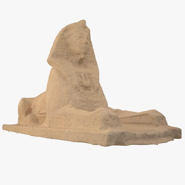 3d sphinx egyptian