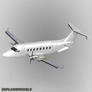 3ds max beechcraft 1900d generic white