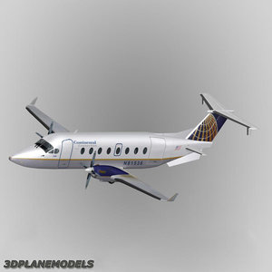 beechcraft 1900d continental connection 3ds