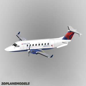 3d beechcraft 1900d delta connection model