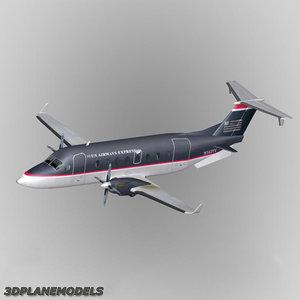 beechcraft 1900d airways express 3d model