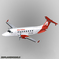 3d beechcraft 1900d airliner avior