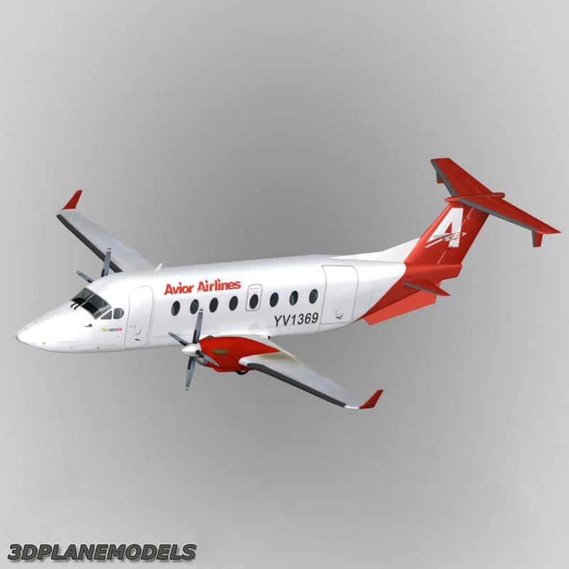 3d beechcraft 1900d airliner avior