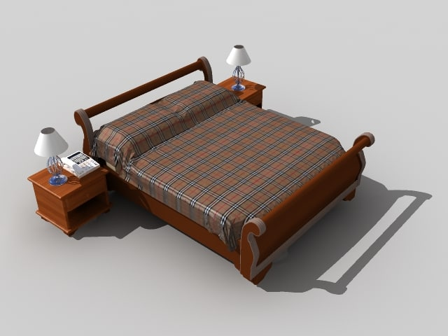 3ds max bed classic