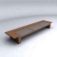 3d model bench getty center