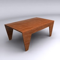 3d marcel breuer plywood table