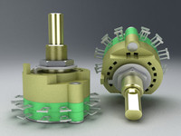 3d electronic rotary switch model
