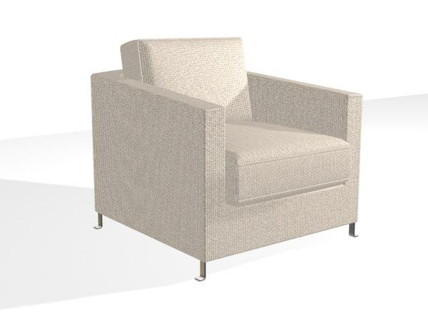 greta armchair 3d max