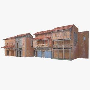 3d roman buildings model