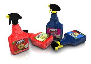 garden spray bottles 3d model