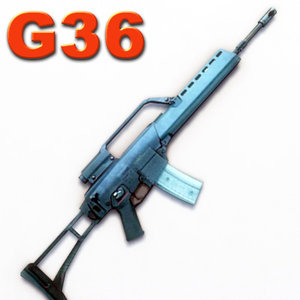 g assault rifle 3d model