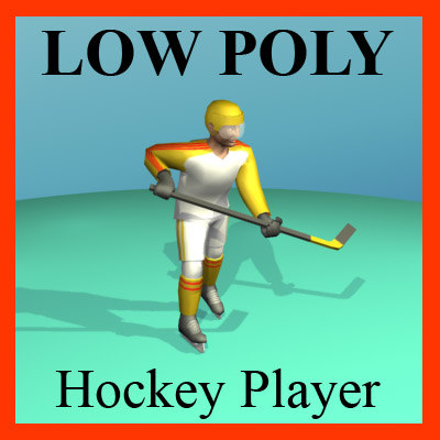 3ds max hockey player