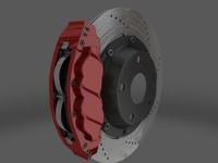 3ds max brakes caliper