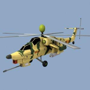3d model mi28 helicopter