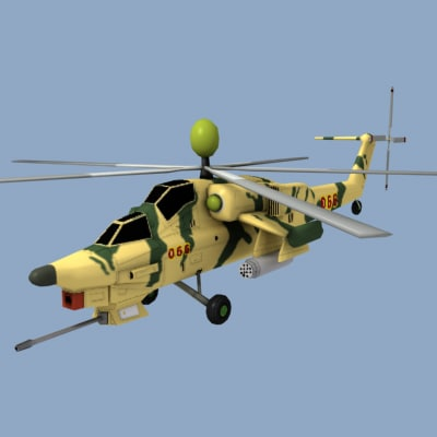 3d model mi28 helicopter