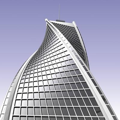 max futuristic building