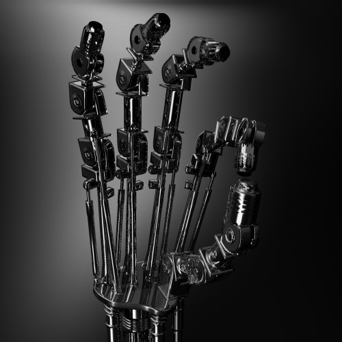 robotic hand terminator 3d model