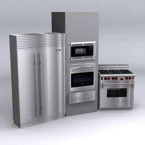 3ds max sub-zero wolf appliance
