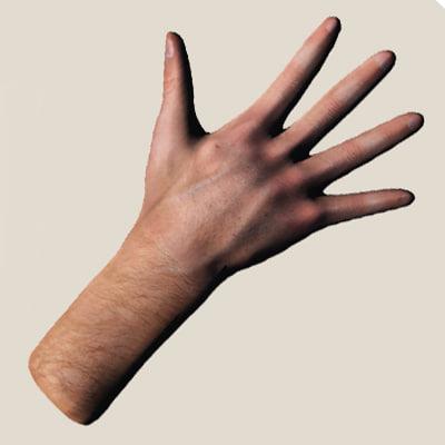 man hand obj