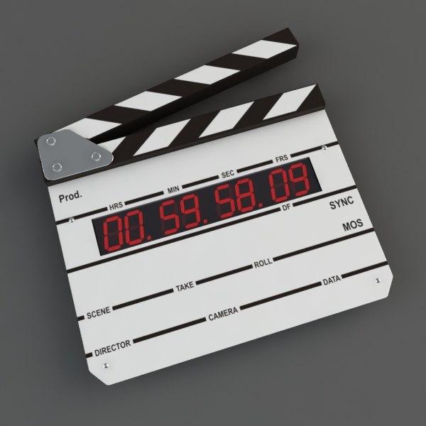 digital clapboard 3d model
