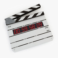 digital clapboard 3d model