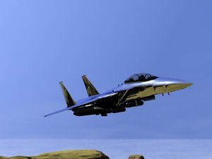 3d realistic f-15e model