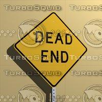 3d dead end sign
