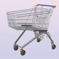 3d shopping cart trolley
