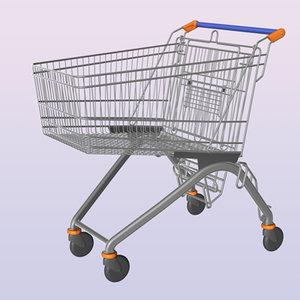 3d shopping cart trolley