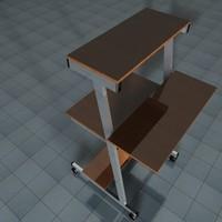 3d pc table model