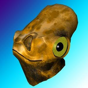 free c4d model alien head