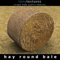Hay Round Bale 3DS Model