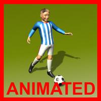 soccer player 3d x