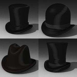 hats 3d 3ds