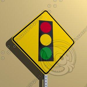 3d traffic signal ahead