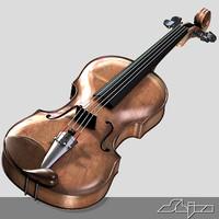 3d model of violin