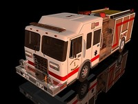 c4d engine pumper truck