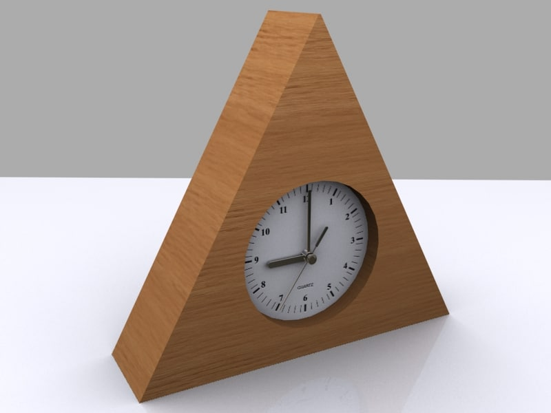 3ds max wood clock