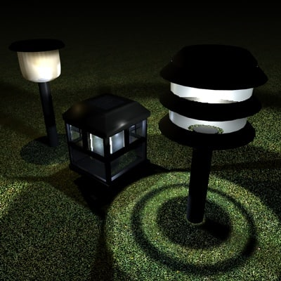 3ds max solar lights lantern