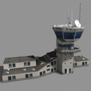 3d model air control tower