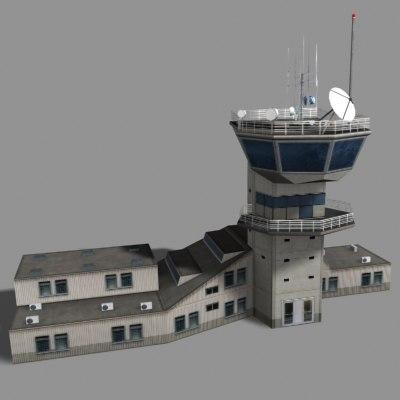 3d model air control tower