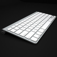 3d model apple mac wireless keyboard