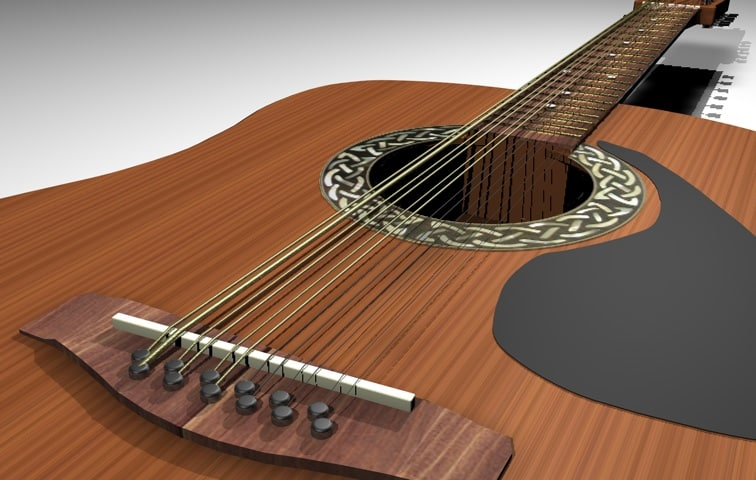 3ds max 12 string guitar
